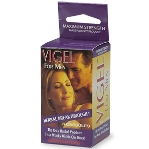 Vigel for Men, maximum strength male potency product.