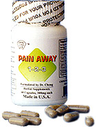 Pain Away 1-2-3, the pain relieve formula.
